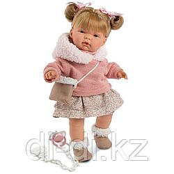 LLORENS Кукла Жоэль 38см, шатенка в розовой курточке