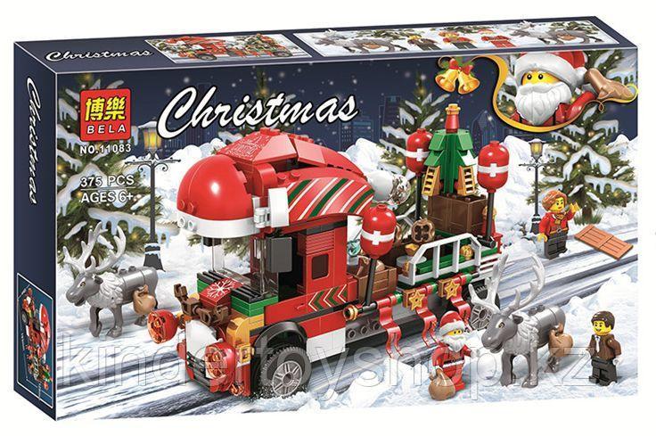 Конструктор bela 11083 новогодний грузовик аналог Lego Creator Рождество Грузовик Санты
