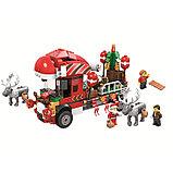 Конструктор bela 11083 новогодний грузовик аналог Lego Creator Рождество Грузовик Санты, фото 4