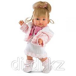 LLORENS Кукла Валерия 28см, блондинка в розовой курточке