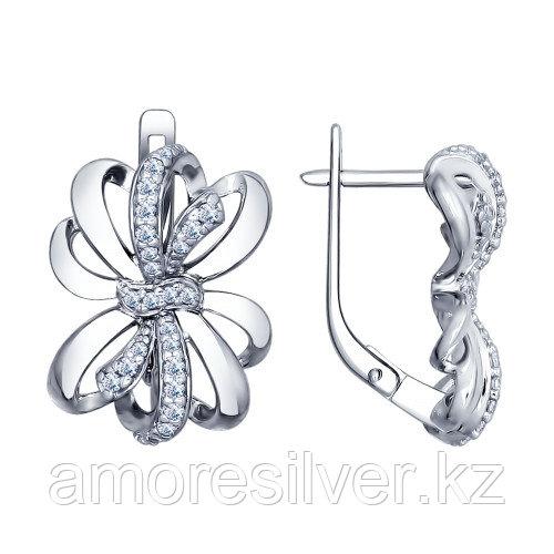 Серьги из серебра с фианитом   SOKOLOV 94022496