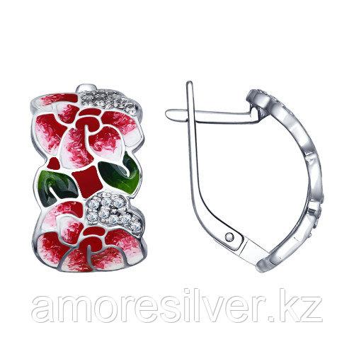 Серьги из серебра с эмалью   SOKOLOV 94022472