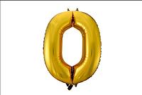 Шар фольгированный цифра 0 (без гелия)