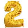 Шар фольгированный цифра цвет микс (Цифра 2) без гелия