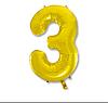 Шар фольгированный цифра (цвет микс) Цифра 3 без гелия
