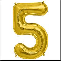 Шар фольгированный цифра 1 метр цвет микс цифра 5 без гелия