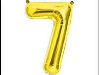 Шар фольгированный цифра 1 метр цифра 7 цвет микс без гелия