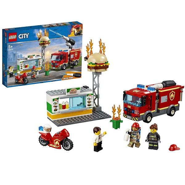 LEGO CITY 60214 Пожарные: Пожар в бургер-кафе
