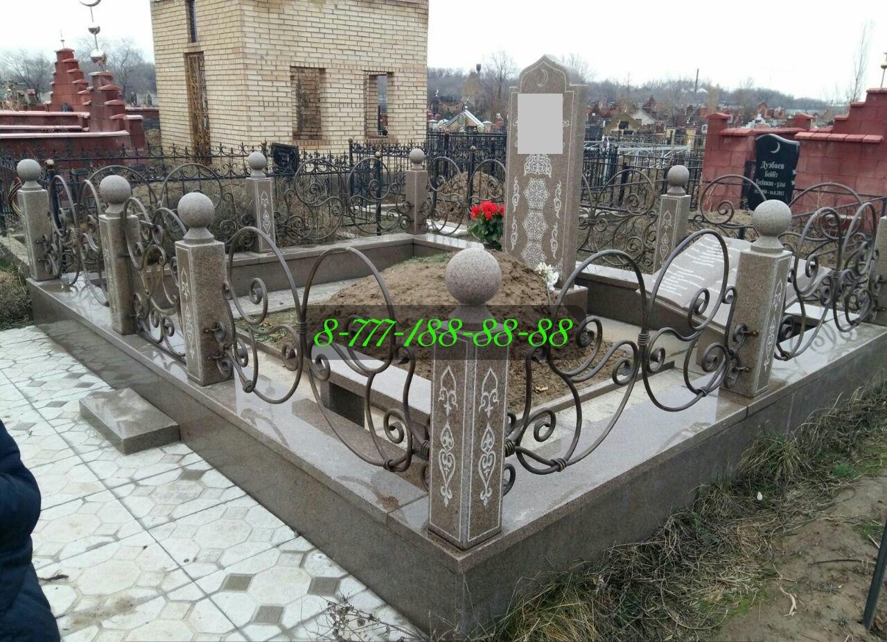 Мусульманская могила строительство на кладбище