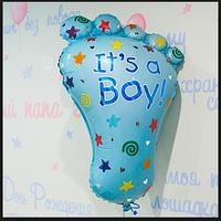 """Набор шаров Ножка """"С рождением малыша""""  для мальчика , фото 1"""