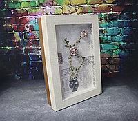 """Коробка с искусственными цветами """"Картина"""" 34,5*23,5*7,5"""