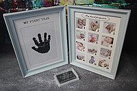 Фоторамка детская с отпечатком (Размер микс) голубой , фото 1