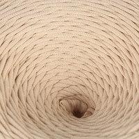 Пряжа трикотажная широкая 100м/350гр, ширина нити 7-8 мм (капучино) МИКС