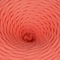 Пряжа трикотажная широкая 50м/160гр, ширина нити 7-9 мм (лососевый)