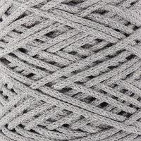 Шнур для вязания без сердечника 100 хлопок, ширина 3мм 100м/200гр (2203 св. серый)