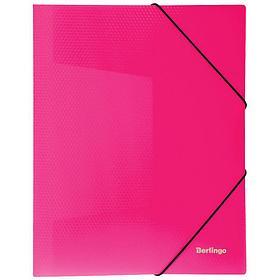 """Папка на резинке Berlingo """"Neon"""" А4, 500мкм, неоновая розовая"""