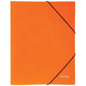 """Папка на резинке Berlingo """"Neon"""" А4, 500мкм, неоновая оранжевая"""