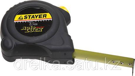 STAYER АutoLock 3м / 16мм рулетка с автостопом, фото 2