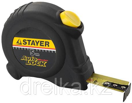 STAYER АutoLock 5м / 19мм рулетка с автостопом, фото 2