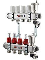 """Коллекторная группа нерж. стали со встроенными расходомерами в сборе VALTEC VTc.586.EMNX.0611 1"""","""
