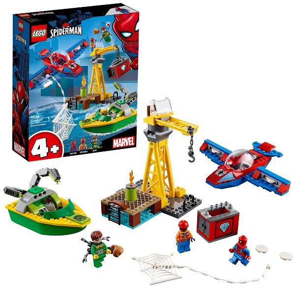 Lego Super Heroes 76134 Конструктор Лего Человек-паук: Похищение бриллиантов Доктором Осьминогом