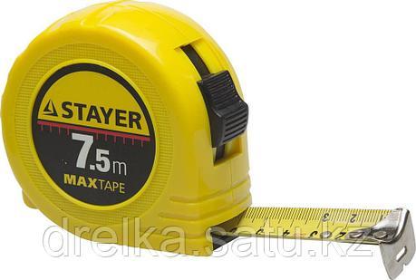 STAYER MaxTape 7.5м / 25мм рулетка в ударопрочном корпусе из ABS, фото 2