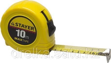 STAYER MaxTape 10м / 25мм рулетка в ударопрочном корпусе из ABS, фото 2