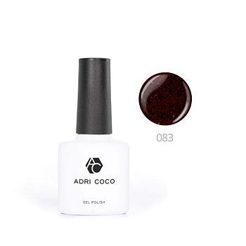 Цветной гель-лак ADRICOCO №083 мерцающая черная роза (8 мл.)