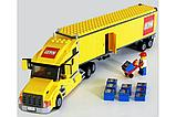 "Конструктор Lepin 02036 ""Желтый Грузовик трейлер"" 298 деталей  аналог LEGO 3221, фото 3"