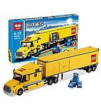"Конструктор Lepin 02036 ""Желтый Грузовик трейлер"" 298 деталей  аналог LEGO 3221, фото 2"
