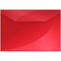 Папка на кнопке А4 OfficeSpace Красная 150мк # 220896