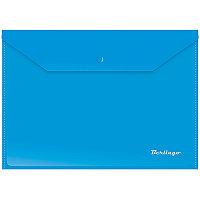Папка на кнопке А4 Berlingo Синяя 180мкм # Акк_04102