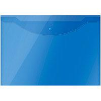 Папка на кнопке А3 # 267523 OfficeSpace, 150мкм, полупрозрачная, синяя