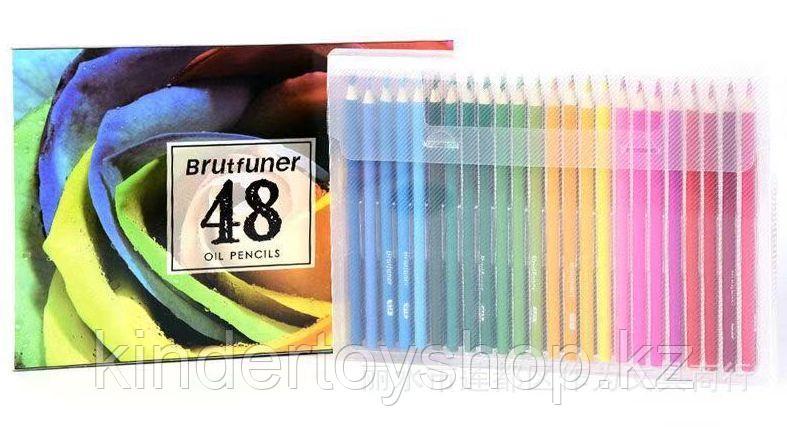 Карандаши масляные oil pencils от фирмы brutfuner 48 цветов