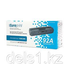 Картридж, Europrint, EPC-4092A, Для принтеров HP LaserJet 1100/3200, 2500 страниц.