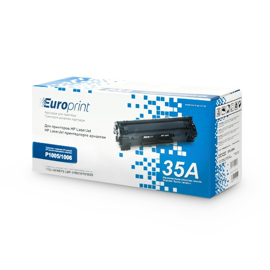 Картридж, Europrint, EPC-435A, Для принтеров HP LaserJet P1005/P1006, 1500 страниц.