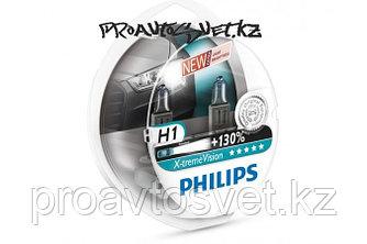 Галогеновая лампа PHILIPS H1 12258 X-Treme Vision+130 12V S2
