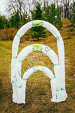 """Парник """"Весна"""" средний. Длина 3м. Высота 1.2м. 4 дуги из металла. Укрывной материал 60 г/м2. , фото 3"""