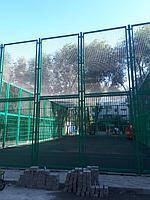 Укладка искусственного газона спортивный 4см и декоративный  с казахскими орнаментами в городе Алматы (Турксибский район) 11