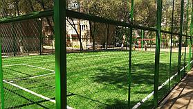 Укладка искусственного газона спортивный 4см и декоративный  с казахскими орнаментами в городе Алматы (Турксибский район) 8