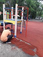 Резиновое покрытие на 36 детских площадок в городе Алматы за 2018 год. 16