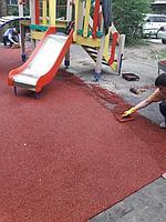 Резиновое покрытие на 36 детских площадок в городе Алматы за 2018 год. 1