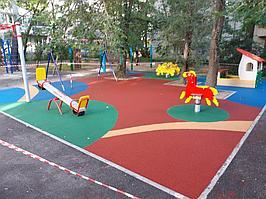 Резиновое покрытие на 36 детских площадок в городе Алматы за 2018 год. 4