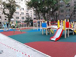 Резиновое покрытие на 36 детских площадок в городе Алматы за 2018 год. 15