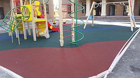 Резиновое покрытие на 36 детских площадок в городе Алматы за 2018 год. 9