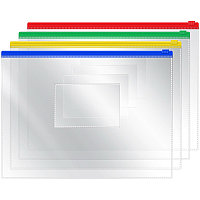 Папка на бегунке A5 OfficeSpace, 120мкм, прозрачная