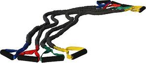 Эспандер трубчатый универсальный черный 6мм x 11мм