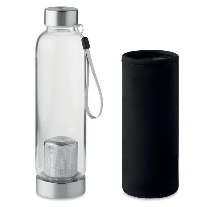 Бутылка из стекла с чайным ситечком, UTAH TEA