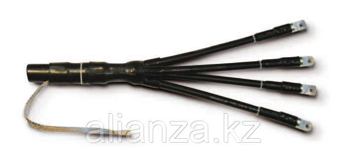 Муфта конц. термоусаж.  для кабел. с пластм. изол. 4ПКТп(б) -1-150/240-Б с бронёй, с болт. након.