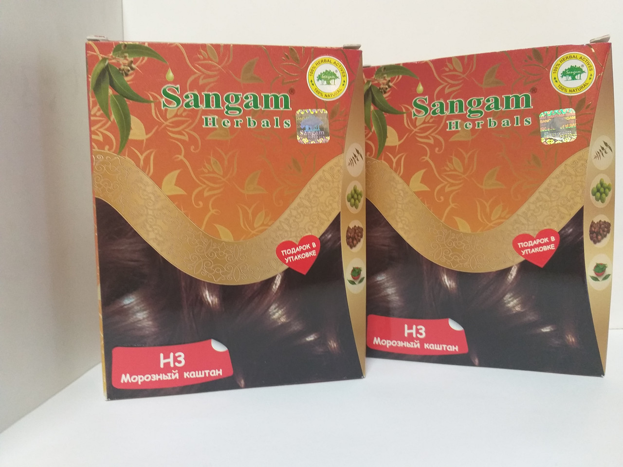 Натуральная краска H3  Морозный каштан, 60 гр, Сангам